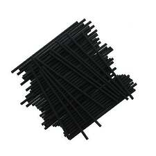 The Cake Decorating Co. 6 Inch Black Plastic Cake Pop Sticks x 25