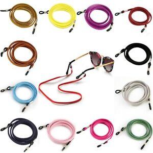 Brillenkordel Mit Verstellbaren Leder Gummischlaufen Brillenschnur Band Schnur