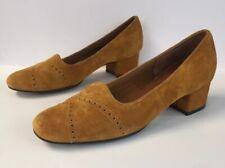 Vintage Mason Shoe Co Cowhide Suede Heels Size 7.5 Aa
