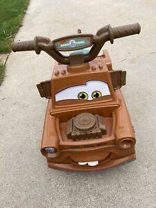 DISNEY CARS TOW MATER RIDE ON 6V QUAD TRUCK WORKS GREAT! DM6V-RARE!!
