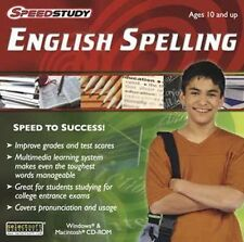 Speedstudy ENGLISH SPELLING  Great for studying for college entrance exams  NEW
