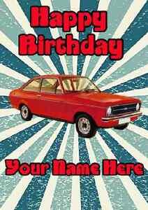 Ford Escort Happy Birthday A5 Personalised Greeting Card CAR PIDFE1