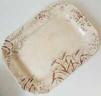 Antique Waterloo Potteries Wheat Brown Serving Platter Tray by T&R BOOTE 14.5""