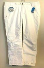 Columbia Women's Bugaboo Omni Tech Waterproof Ski Pants WHITE 3X MSRP $115
