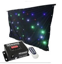 Beams Led RGBW Sparkle Wall Curtain Black. New