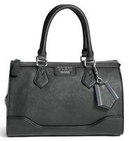 NWT GUESS WINSLOW HANDBAG Black Logo Satchel Crossbody Shoulder Bag GENUINE