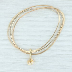 New Diamond UFO Enhancer Charm Layered Bangle Bracelets 14k Gold Nordstrom NWT