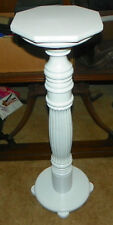 Oak White Painted Plant Stand  (PS212)