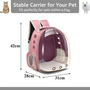 Pet Transport Bag Carrying For Cats Dog Breathable Backpack Travel Capsule Cage