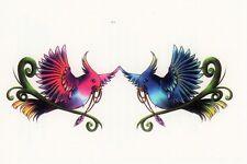 Temporary Tattoo, Tattoo Mix 9-10, wunderschöne Paradiesvögel
