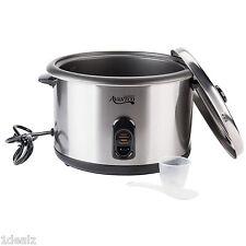Professional Advantco Prem- 46-Cup Large-Capacity Electric Rice Cooker - Silver