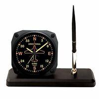 Vintage Directional Gyro Alarm Clock Desk Pen Set, Vintage Aviation  OFF-0109