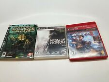 Set of 3 ps3 games playstation bioshock, medal of honor,  Uncharted thieves 2