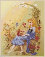 "Disney's Princess Sleeping Beauty ""Briar Rose"" Cross Stitch Pattern CD Fantasy"