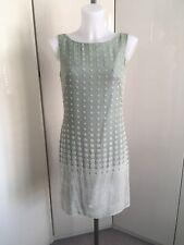 Celadon Green 60s Mary Quant Style Dress English Eccentrics Helen David Sz 10