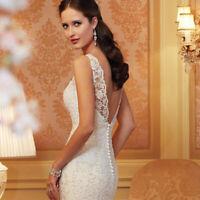 White Lace Sleeveless Midi Long Elegant Evening Dresses Bridal Wedding Dress