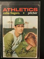 1971 Topps Rollie Fingers #384 Oakland Athletics (EX)