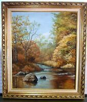 Vintage Catskill NY Oil Painting Autumn Landscape Signed