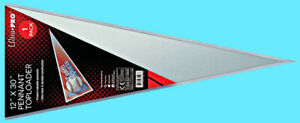"1 ULTRA PRO PENNANT TOPLOADER NEW 12""x30"" Rigid Plastic Protective Sleeve Sports"