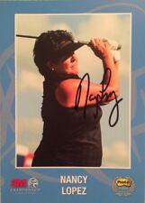 Nancy Lopez LPGA Golf Autographed 3M Championship 5x7 Photo Bio on Reverse