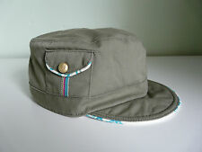 BNWT MONSOON ACCESSORIZE LADIES KHAKI GREEN PAISLEY RETRO MILITARY CAP BOHO HAT