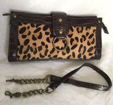 DIANA FERRARI Fur Leather/Faux Leather Clutch/Shoulder Bag / Handbag