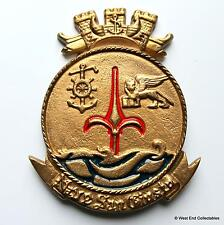 Nave San Giusto - Italian Navy Maritime Solid BRONZE Tampion Plaque Badge Crest