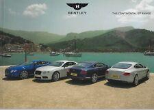 Bentley Continental GT Range • Brochure 2013 • 36 page EXCELLENT NEW