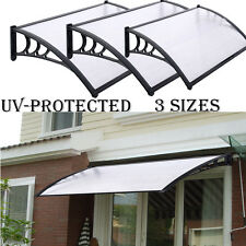 NEW DOOR CANOPY AWNING SHELTER FRONT AND BACK DOOR AWNING POLYCARBONATE 3 SIZES & Polycarbonate Patio Door Canopies | eBay