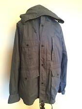 Woolrich John Rich & Bros Men's Outwear Cotton Hood Zipup Jacket Blue US L EU XL