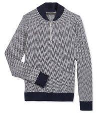 Sean John Men's Herringbone Half-Zip Sweater, Navy, Size 3XL, MSRP $64