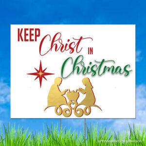 Keep Christ in Christmas Outdoor Yard Decoration
