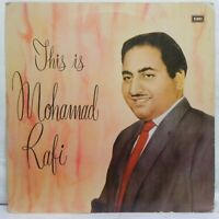This Is Mohd Rafi Rare LP Vinyl Record Bollywood Hindi Film Songs Indian EX