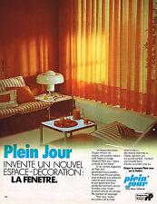 PUBLICITE ADVERTISING 104  1974   PLEIN JOUR   rideaux voilages