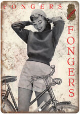 """Fongers Bicycle Ad Nederland 10"""" x 7"""" Reproduction Metal Sign B196"""