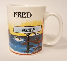 2002 Destin Florida Vacation Souvenir Coffee Mug Scuba Swimming B78