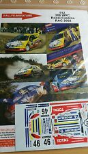 DECALS 1/43 REF 512 PEUGEOT 206 WRC VALENTINO ROSSI RAC RALLY 2002 RALLYE VR46