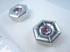 Earrings with Swarovski Crystals 0893 Nina Ricci Rhodium Plated Pierced