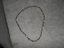 NECKLACE - TANS / GREYS / REDS / BLACK - BEADS