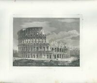 1848 Rom Kolosseum Radierung auf Kupfer Original Jahrgang