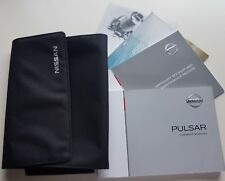 Genuine NISSAN PULSAR OWNERS MANUAL HANDBOOK WITH WALLET 2014-2018 + New sb