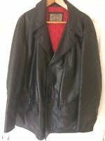 "ARMANI JEANS SIMIN T BLACK LEATHER JACKET SIZE 42"" MADE IN ITALY EXCELLENT COND."