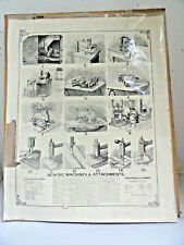1884 Photo-Litho Sewing Machines & Attachments Weaving looms