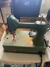 Vintage Green General Electric Model A Sewing Machine S# 1631