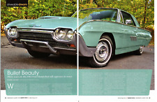 1963 FORD THUNBERBIRD 390/300 HP ~ GREAT 4-PAGE ARTICLE