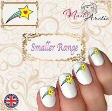 40 x Nail Art Water Transfers Stickers Wraps Shooting Star Smaller Childrens