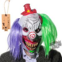 Scary Clown Mask Adult Latex Circus Halloween Evil Killer Fancy Horror Dress