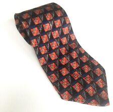 ERMENEGILDO ZEGNA luxury mens silk neck tie Check pattern Made in Italy
