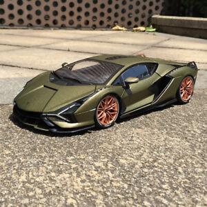 Bburago 1:18 Diecast Collection Car Model Men For Lamborghini Sian FKP37 No box