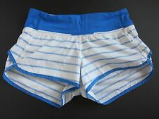 Lululemon Speed Short Deauville Stripe Pipe Dream - Blue / White - SZ 2